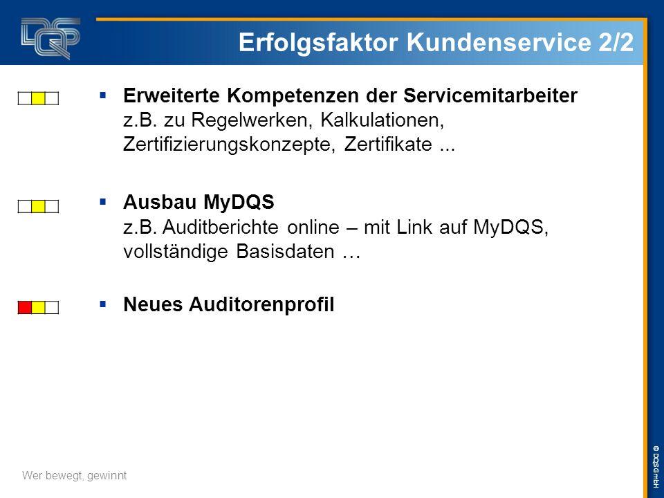 © DQS GmbH Organigramm Service & Vertrieb Service & Vertrieb Christiana Rambow-Krummeck Lebensmittel Joachim Mehnert Global Account Management Gert Kr