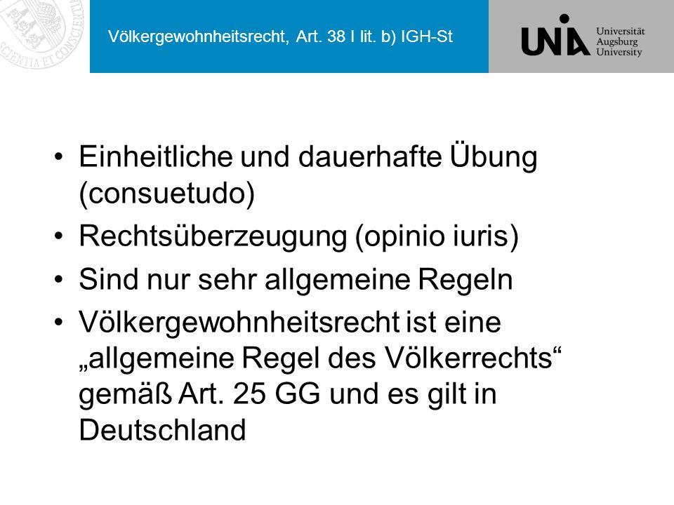 Völkergewohnheitsrecht, Art.38 I lit.