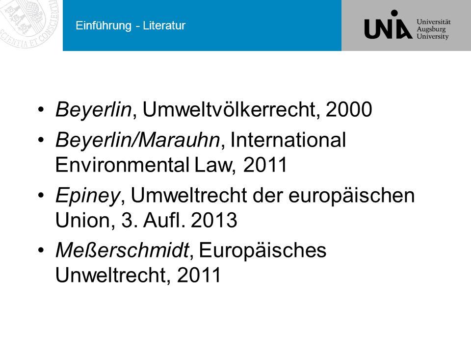 Prinzipien des Völkergewohnheitsrechts Verfahrenspflichten Information über umweltbelastende Vorhaben Einschätzung von Umweltauswirkungen Warnung über umweltbelastende Vorhaben Konsultationspflicht.