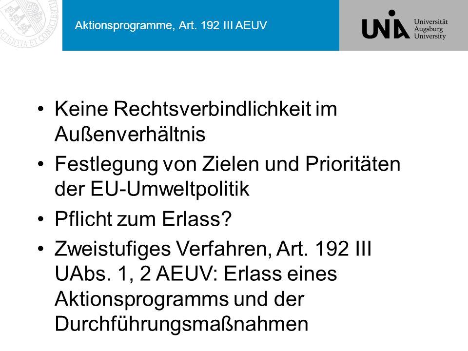 Aktionsprogramme, Art.