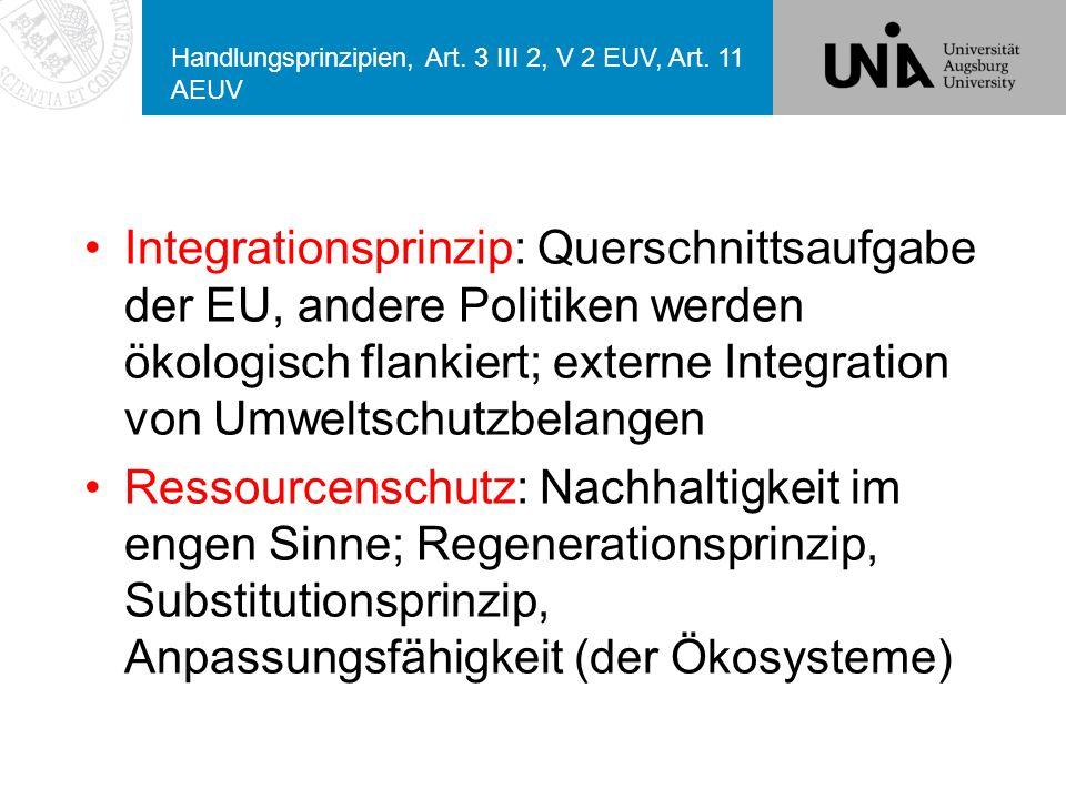 Handlungsprinzipien, Art.3 III 2, V 2 EUV, Art.