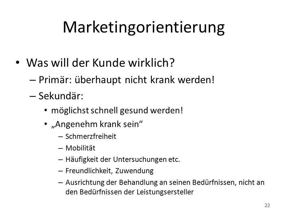 Marketingorientierung Was will der Kunde wirklich.