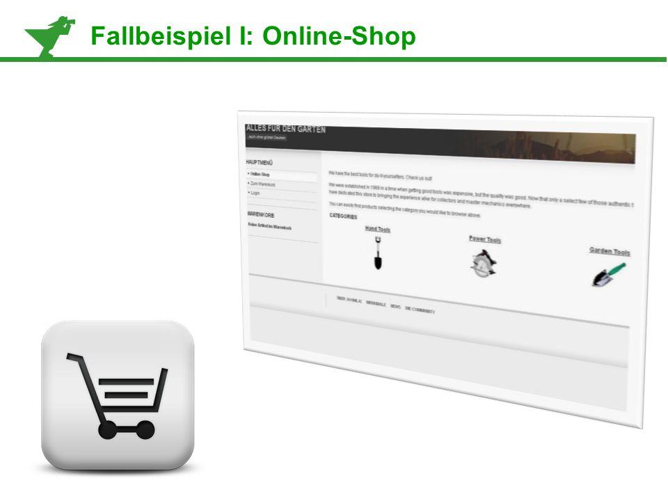 Fallbeispiel I: Online-Shop