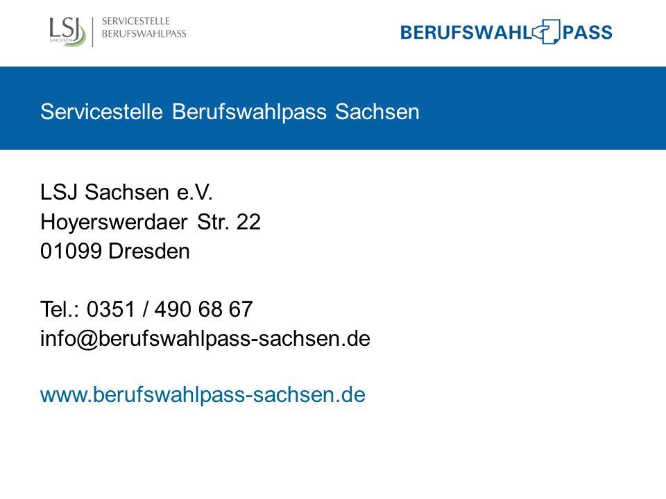 Servicestelle Berufswahlpass Sachsen LSJ Sachsen e.V.