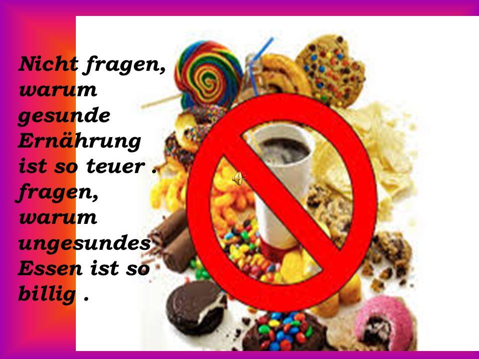 Ruhig bleiben und Ignorieren ungesundes Essen.