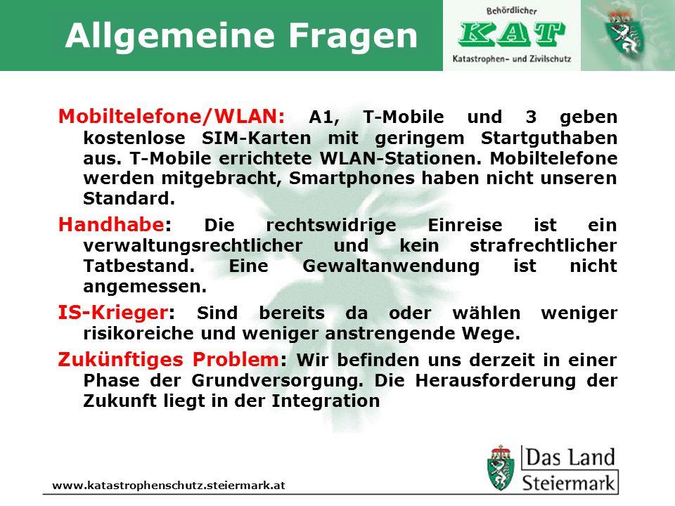 Autor www.katastrophenschutz.steiermark.at Allgemeine Fragen Mobiltelefone/WLAN: A1, T-Mobile und 3 geben kostenlose SIM-Karten mit geringem Startguth