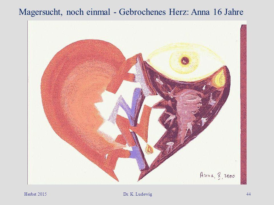 Herbst 2015Dr. K. Ludewig44 Magersucht, noch einmal - Gebrochenes Herz: Anna 16 Jahre