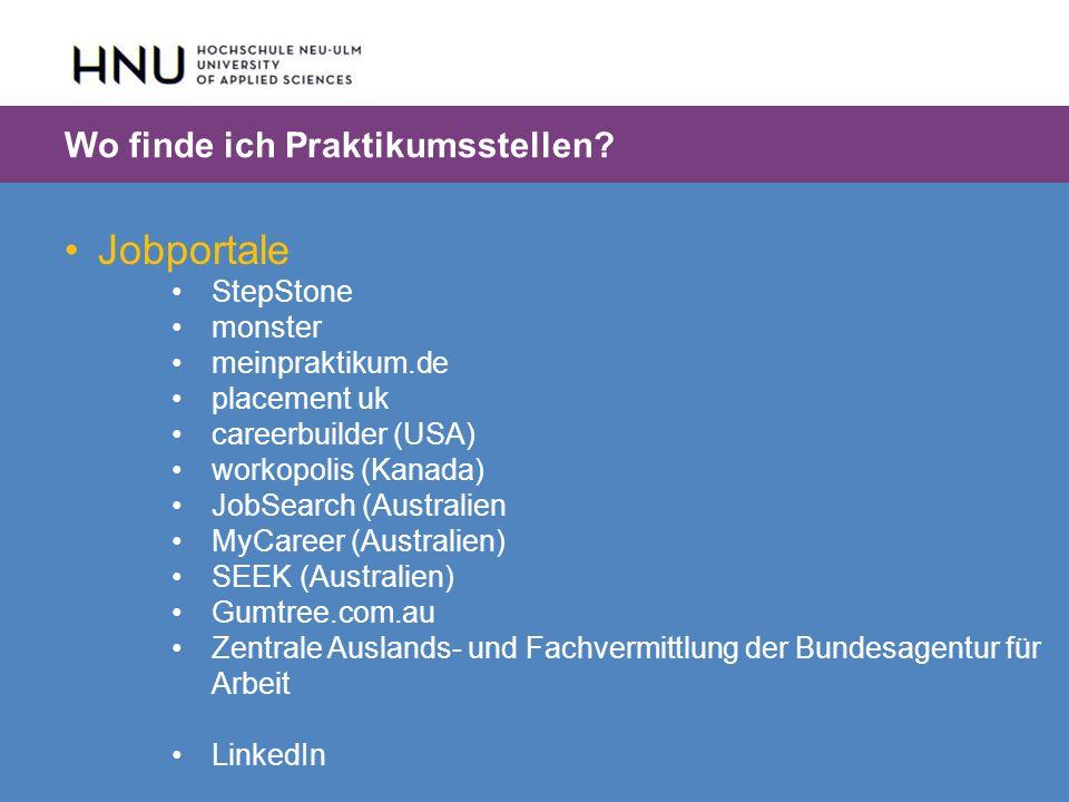 HNU | Hochschule Neu-Ulm | Prof. Dr. Maximilian Mustermann | Corporate Communications II | IMUK 5 | WiSe 2012/2013 Jobportale StepStone monster meinpr