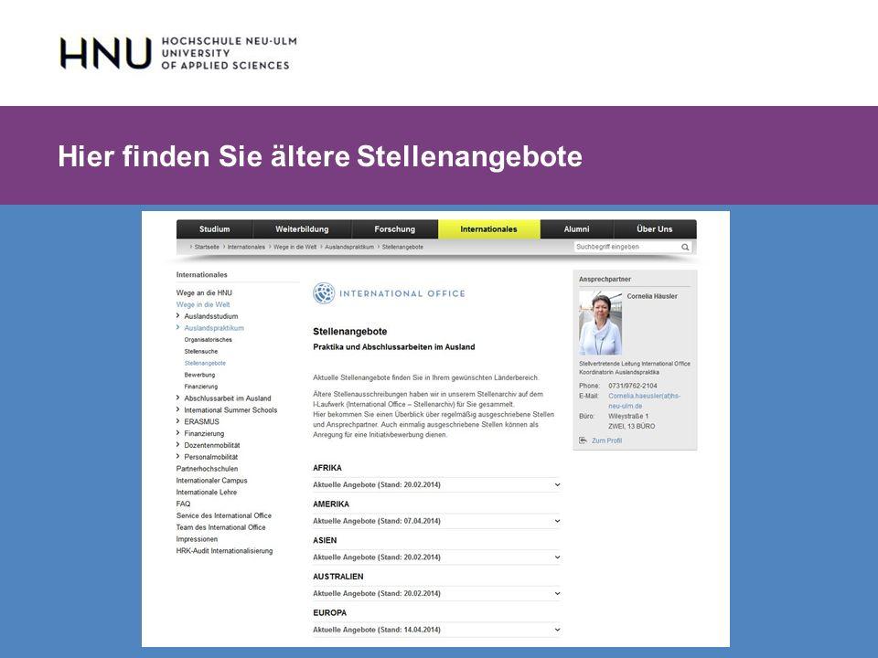 HNU | Hochschule Neu-Ulm | Prof. Dr. Maximilian Mustermann | Corporate Communications II | IMUK 5 | WiSe 2012/2013 Hier finden Sie ältere Stellenangeb