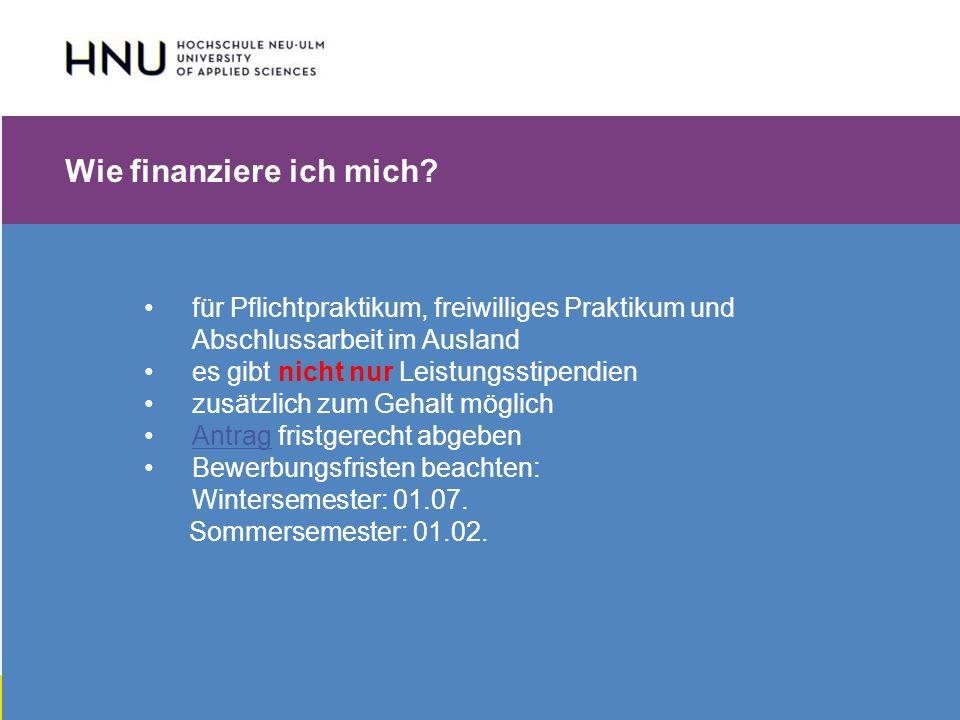 HNU | Hochschule Neu-Ulm | Prof. Dr. Maximilian Mustermann | Corporate Communications II | IMUK 5 | WiSe 2012/2013 Wie finanziere ich mich? für Pflich