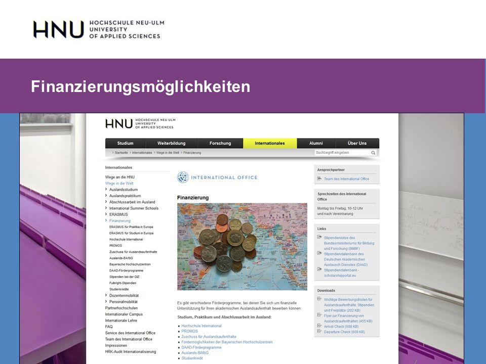 HNU | Hochschule Neu-Ulm | Prof. Dr. Maximilian Mustermann | Corporate Communications II | IMUK 5 | WiSe 2012/2013 Finanzierungsmöglichkeiten
