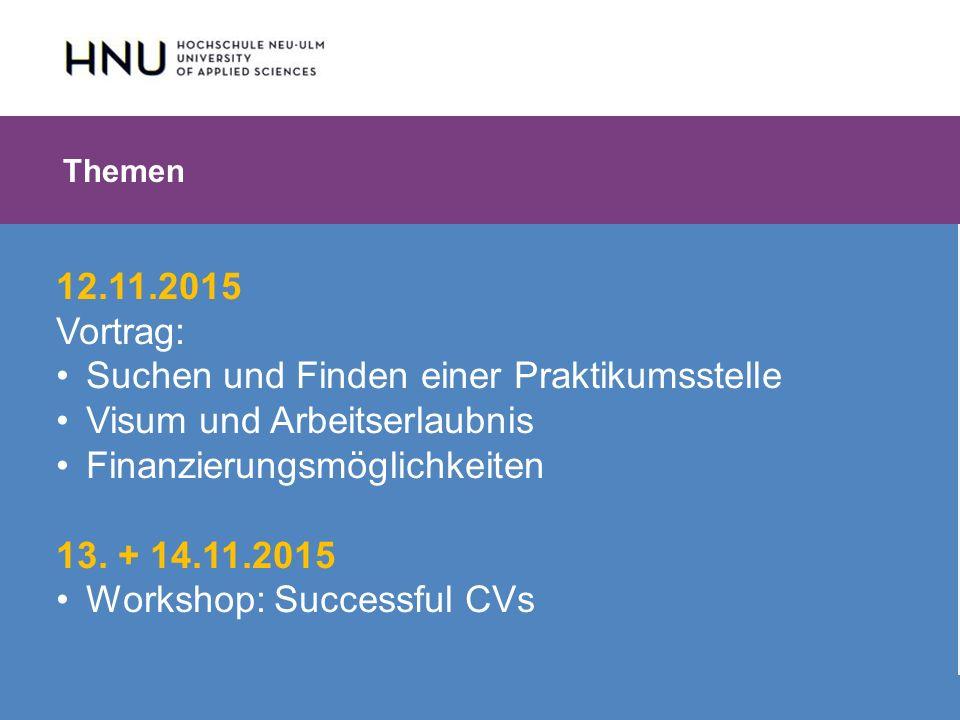 HNU | Hochschule Neu-Ulm | Prof. Dr. Maximilian Mustermann | Corporate Communications II | IMUK 5 | WiSe 2012/2013 12.11.2015 Vortrag: Suchen und Find