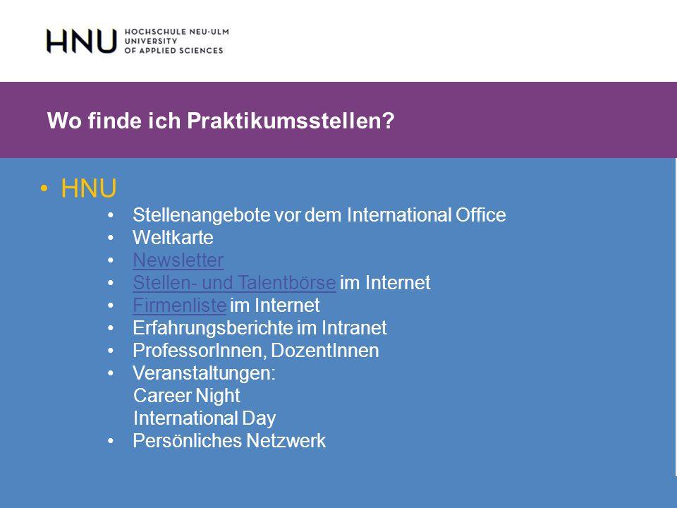 HNU | Hochschule Neu-Ulm | Prof. Dr. Maximilian Mustermann | Corporate Communications II | IMUK 5 | WiSe 2012/2013 HNU Stellenangebote vor dem Interna