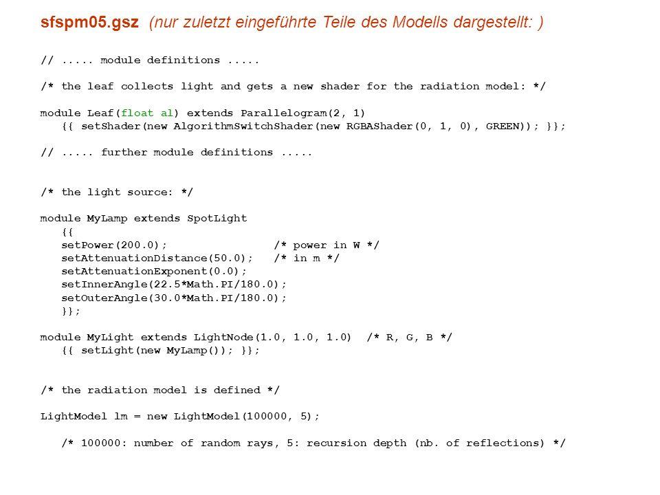 sfspm05.gsz (nur zuletzt eingeführte Teile des Modells dargestellt: ) //.....