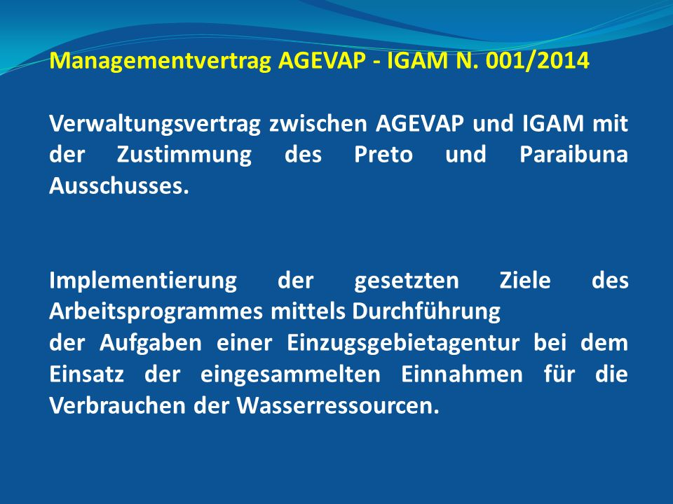Managementvertrag AGEVAP - IGAM N.