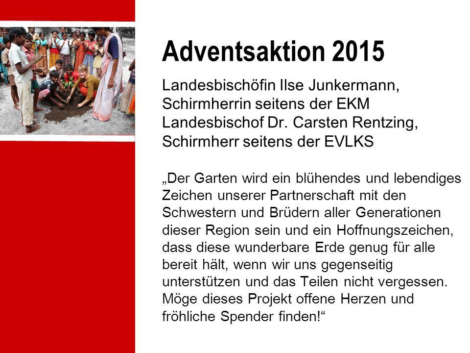 Adventsaktion 2015 Landesbischöfin Ilse Junkermann, Schirmherrin seitens der EKM Landesbischof Dr.