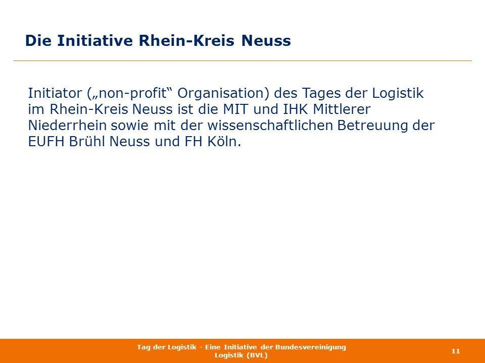 """Die Initiative Rhein-Kreis Neuss Initiator (""""non-profit"""" Organisation) des Tages der Logistik im Rhein-Kreis Neuss ist die MIT und IHK Mittlerer Niede"""