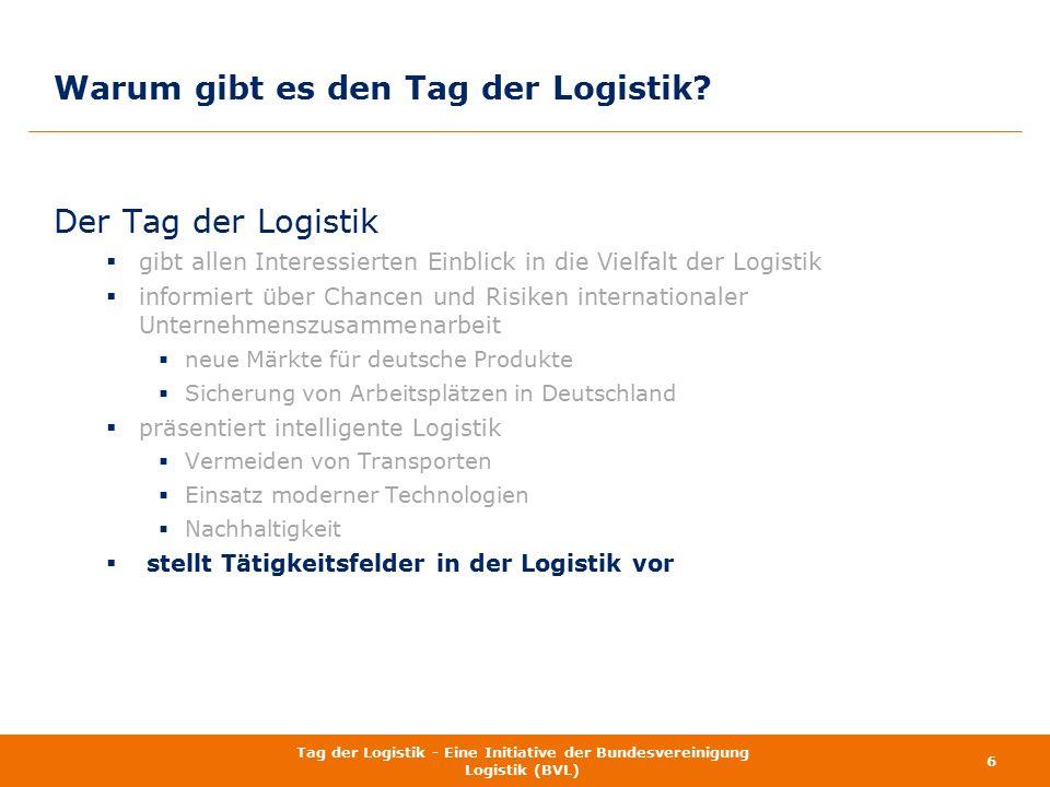 Der Tag der Logistik  gibt allen Interessierten Einblick in die Vielfalt der Logistik  informiert über Chancen und Risiken internationaler Unternehm