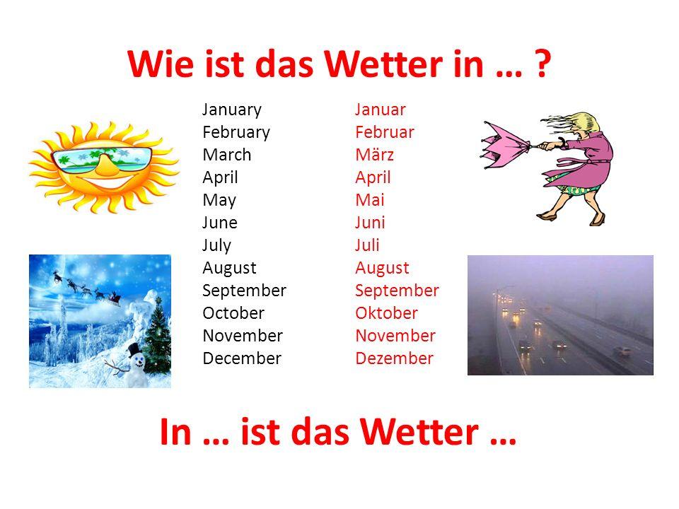 Wie ist das Wetter in … .
