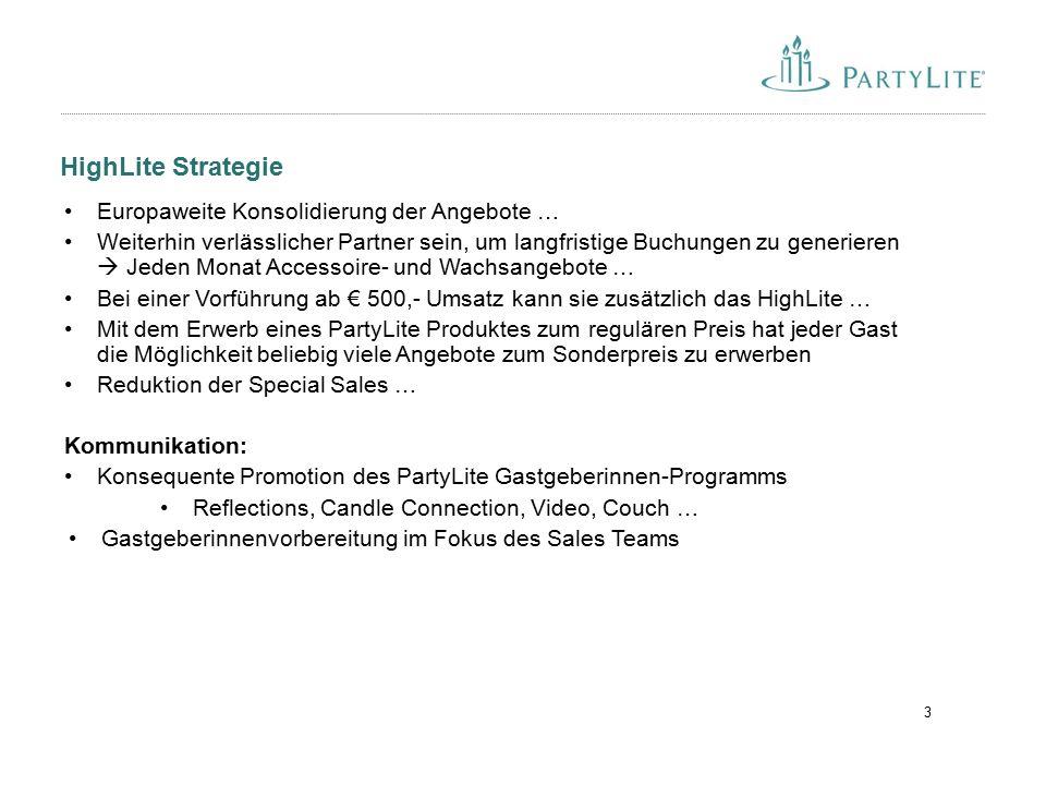 HighLite Strategie 3 Europaweite Konsolidierung der Angebote … Weiterhin verlässlicher Partner sein, um langfristige Buchungen zu generieren  Jeden M