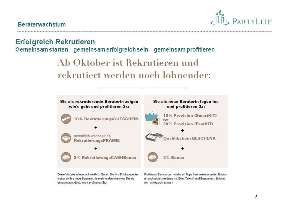9 12er Club: Ziel: Selbstverständlichkeit des Rekrutierens fördern Ehrungen: Auf allen Events Jahrespreis: Exklusives Gala Dinner inkl.