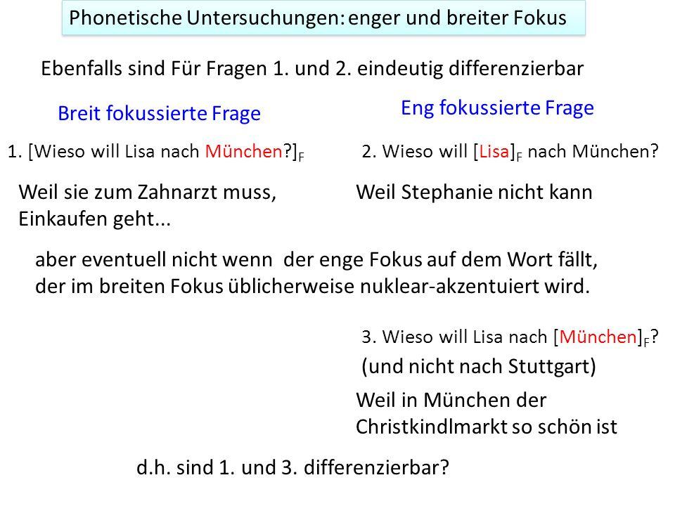 Oft ist der Unterschied zwischen breitem und engem Kontext für den Hörer deutlich z.B. Was gibt's? 1. [Luisa singt im Chor] F Wer singt im Chor? 2. [L