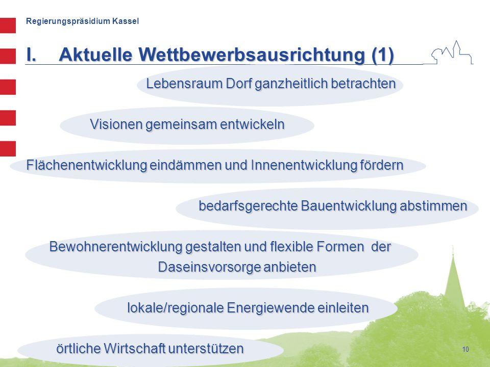 Regierungspräsidium Kassel Lebensraum Dorf ganzheitlich betrachten Lebensraum Dorf ganzheitlich betrachten Visionen gemeinsam entwickeln Visionen geme