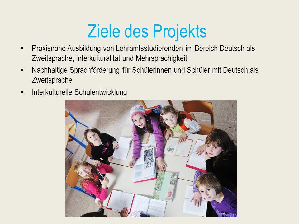 Ziele des Projekts Praxisnahe Ausbildung von Lehramtsstudierenden im Bereich Deutsch als Zweitsprache, Interkulturalität und Mehrsprachigkeit Nachhalt
