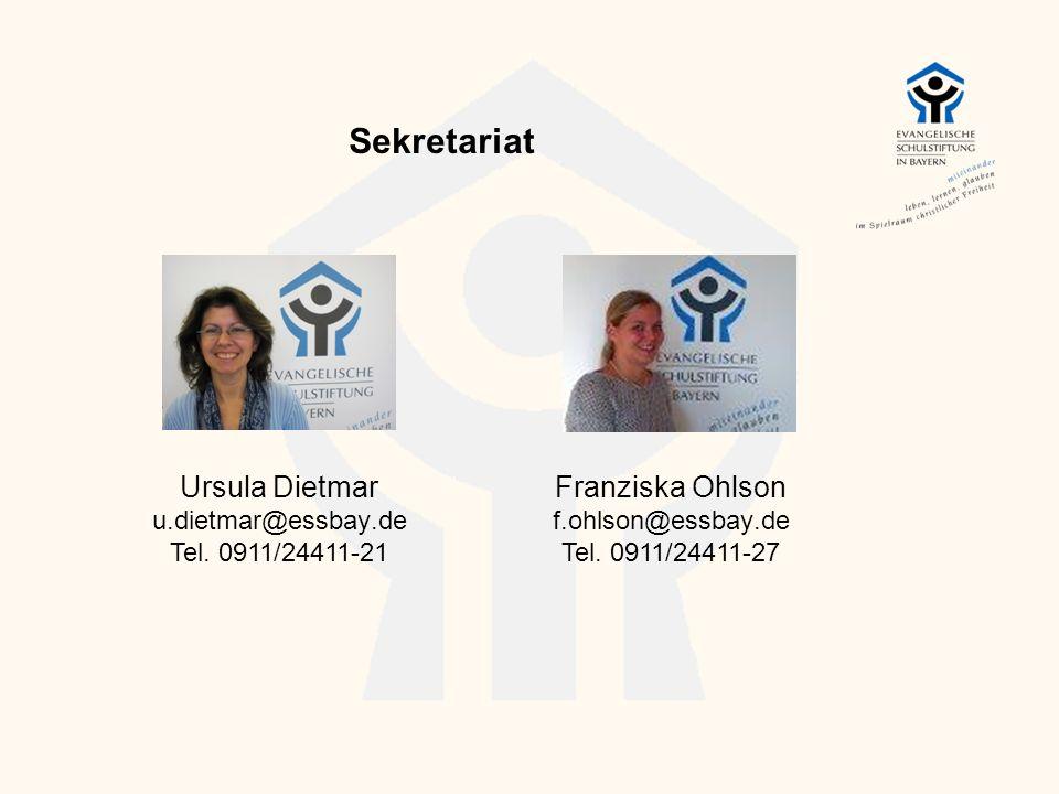 Sekretariat Ursula Dietmar u.dietmar@essbay.de Tel. 0911/24411-21 Franziska Ohlson f.ohlson@essbay.de Tel. 0911/24411-27