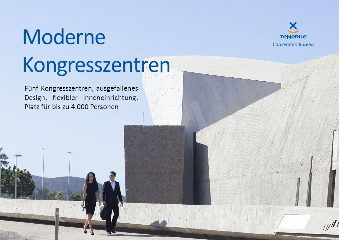 Fünf Kongresszentren, ausgefallenes Design, flexibler Inneneinrichtung, Platz für bis zu 4.000 Personen Moderne Kongresszentren