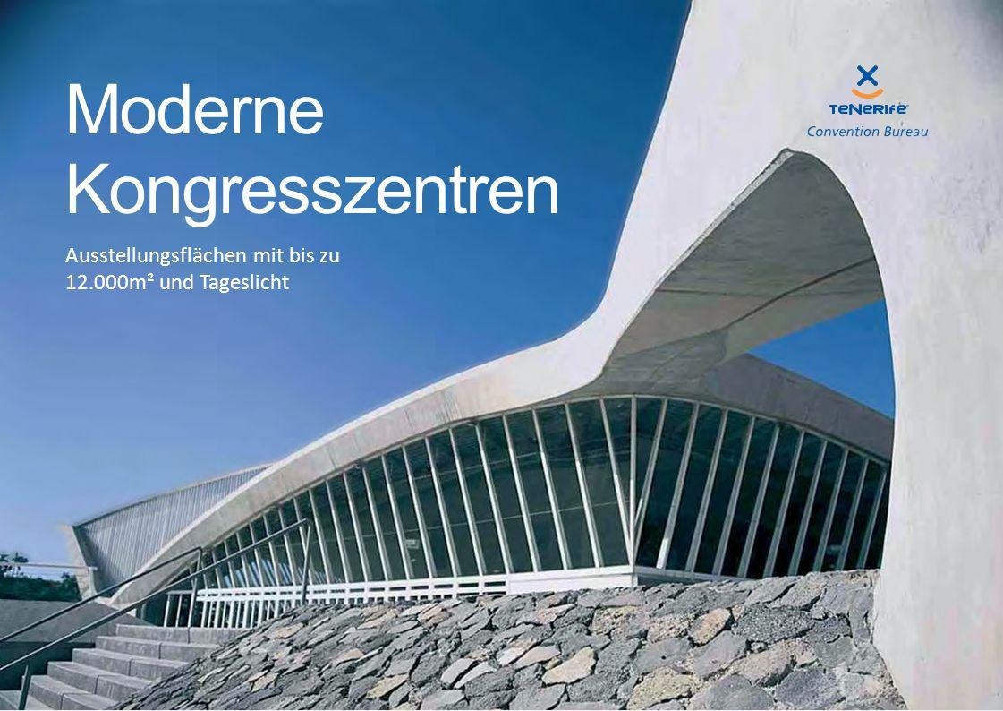 Ausstellungsflächen mit bis zu 12.000m² und Tageslicht Moderne Kongresszentren
