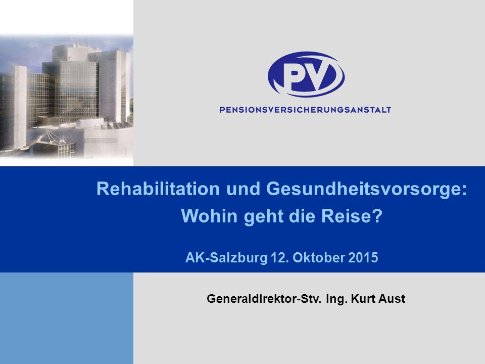 HGSE GD-Stv. Ing. Aust 1 Click to edit Master title style Click to edit Master subtitle style Rehabilitation und Gesundheitsvorsorge: Wohin geht die R