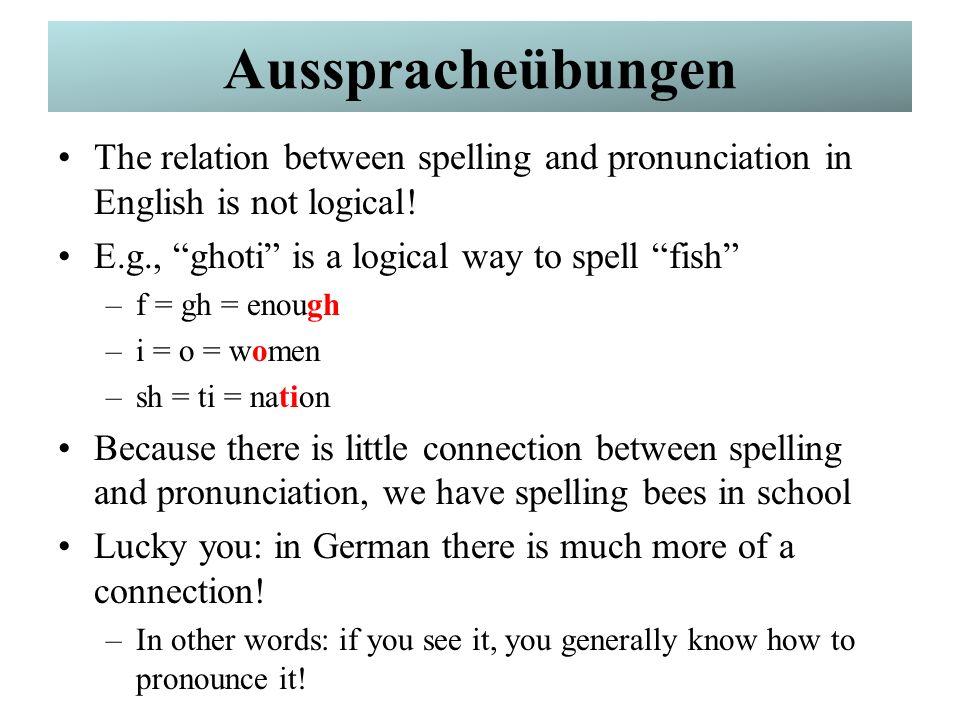 Mehr Dialogelemente Wie buchstabiert man das?How do you spell that.