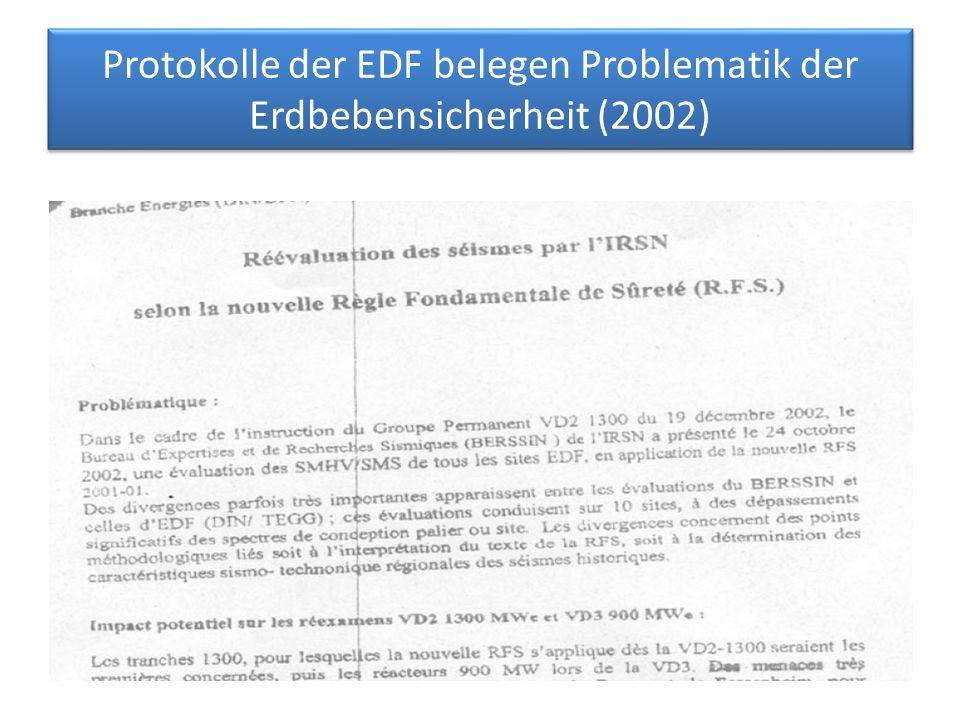 Protokolle der EDF belegen Problematik der Erdbebensicherheit (2002)