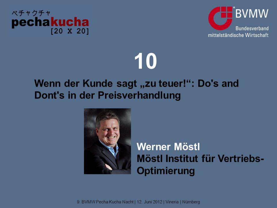 """10 Wenn der Kunde sagt """"zu teuer! : Do s and Dont s in der Preisverhandlung 9."""