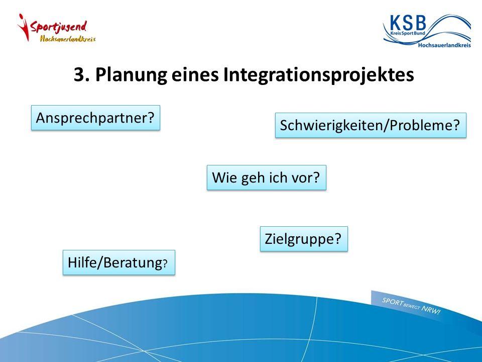 3. Planung eines Integrationsprojektes Ansprechpartner.