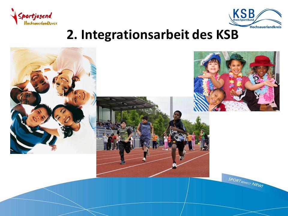2. Integrationsarbeit des KSB