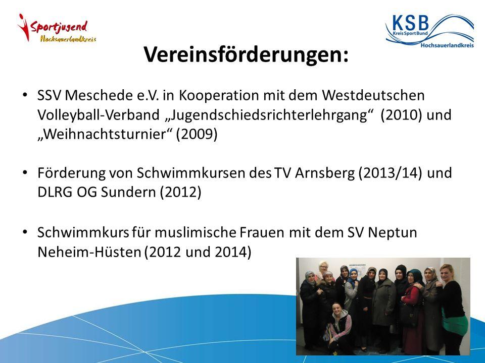Vereinsförderungen: SSV Meschede e.V.