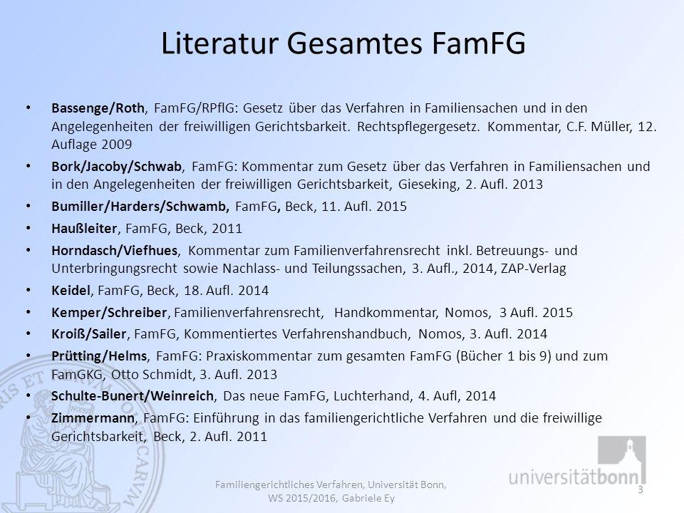 Literatur nur Familienverfahrensrecht Fölsch, Das neue FamFG in Familiensachen, DeutscherAnwaltVerlag, 2.