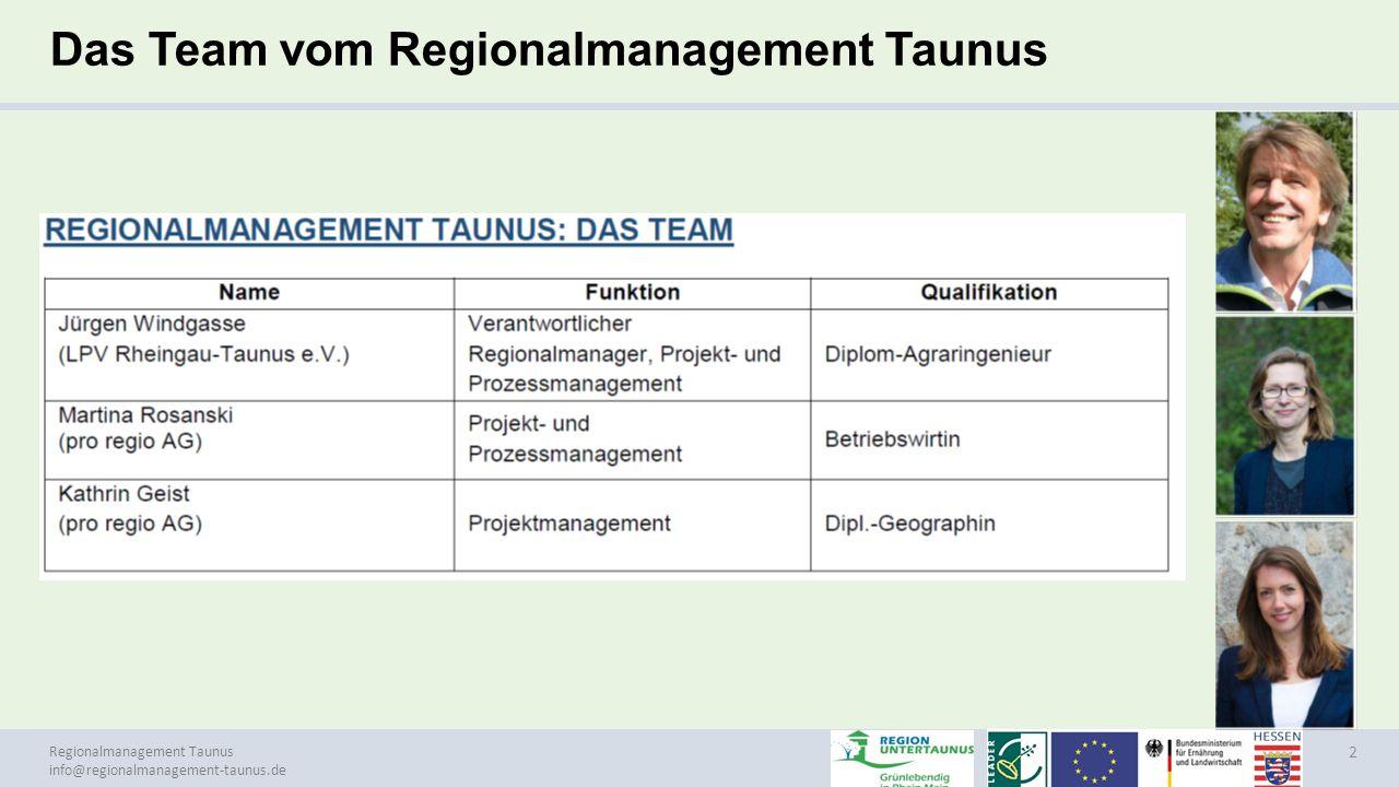 Regionalmanagement Taunus info@regionalmanagement-taunus.de EU Strategie 2020, EU Nr.