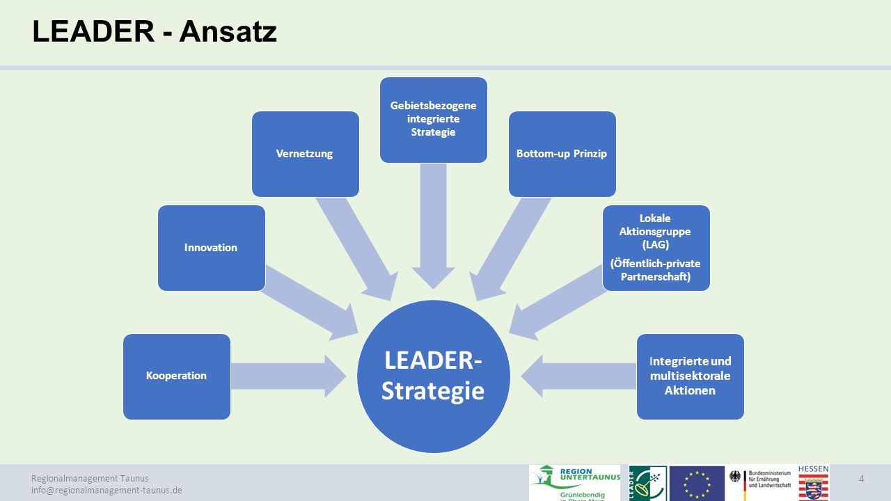 Regionalmanagement Taunus info@regionalmanagement-taunus.de Projektphasen zur Förderwürdigkeit (LAG) 15