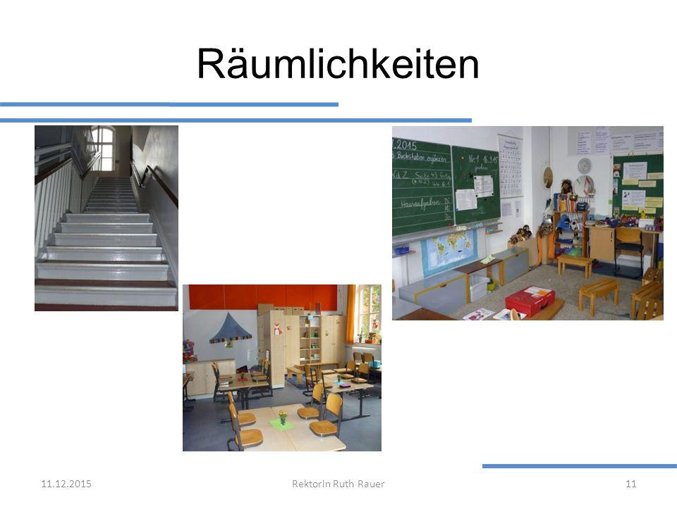Räumlichkeiten 11.12.2015Rektorin Ruth Rauer11