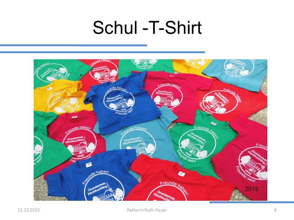 Schul -T-Shirt 11.12.2015Rektorin Ruth Rauer6 2015