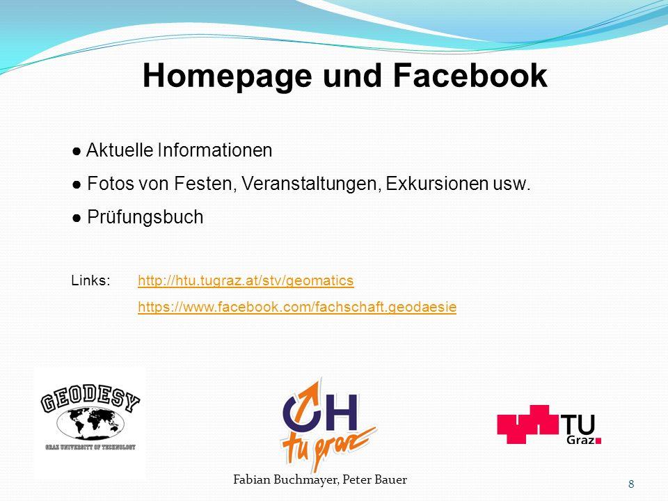 Fabian Buchmayer, Peter Bauer ● Aktuelle Informationen ● Fotos von Festen, Veranstaltungen, Exkursionen usw.