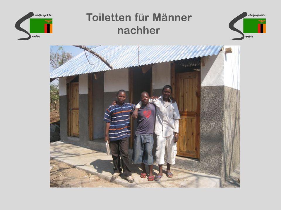 Toiletten für Männer nachher