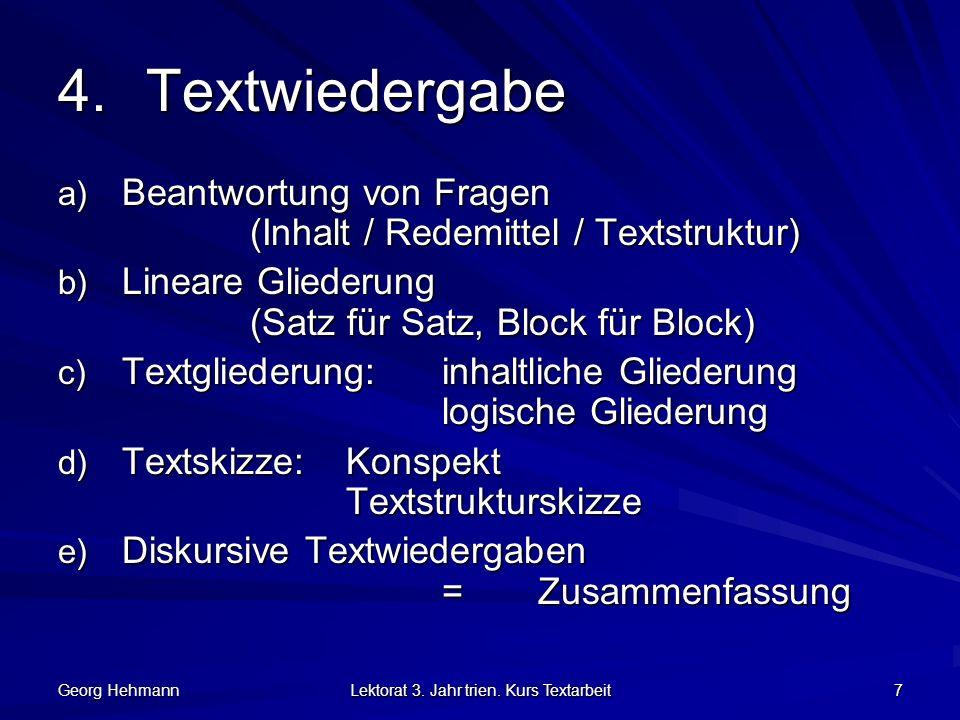 Georg Hehmann Lektorat 3.Jahr trien.