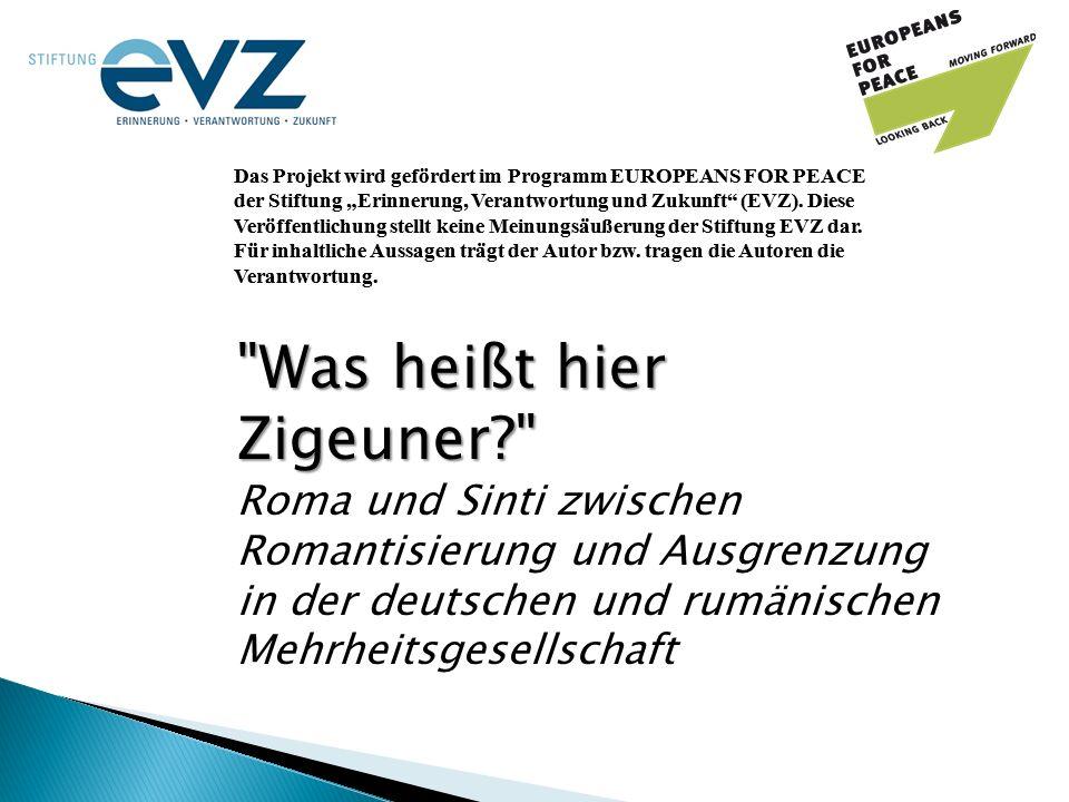 """Das Projekt wird gefördert im Programm EUROPEANS FOR PEACE der Stiftung """"Erinnerung, Verantwortung und Zukunft (EVZ)."""