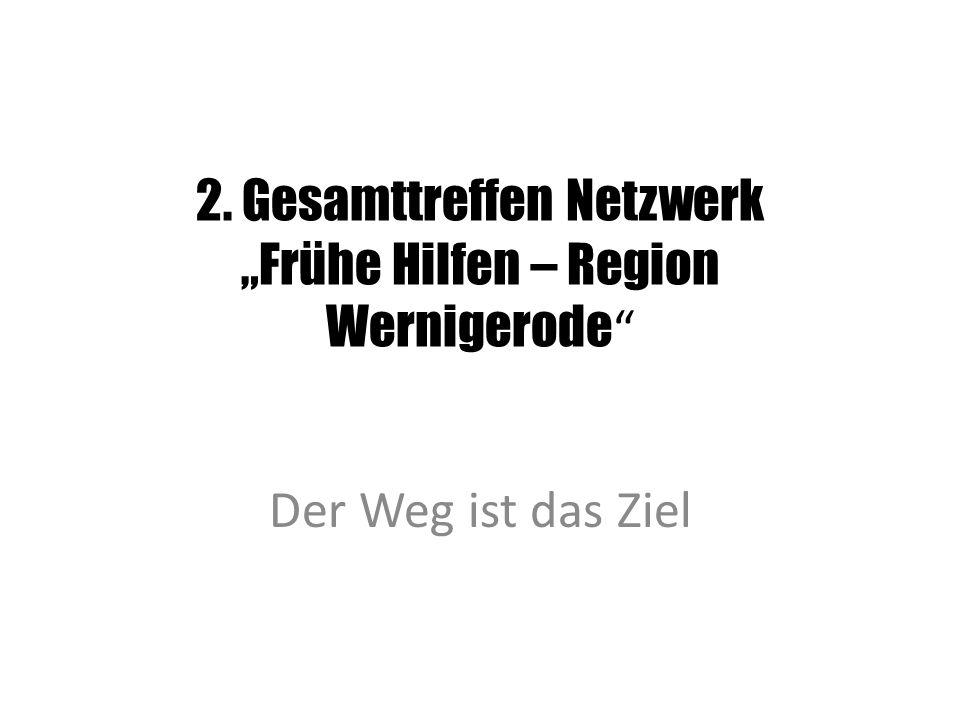"""2. Gesamttreffen Netzwerk """"Frühe Hilfen – Region Wernigerode Der Weg ist das Ziel"""