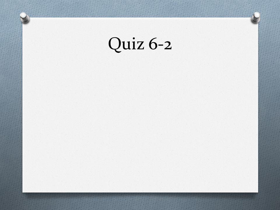 Quiz 6-2