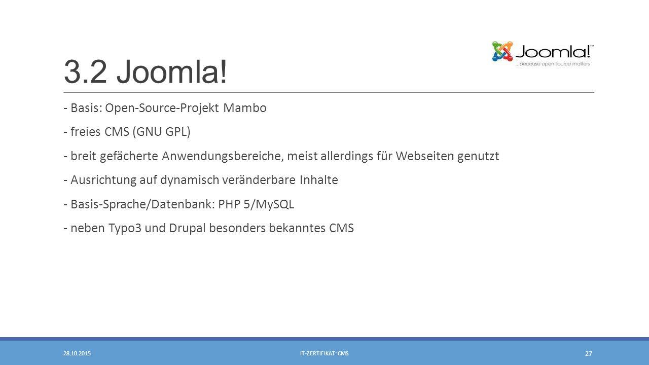 3.2 Joomla.